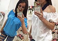 Женская хлопковая блузка на резинке