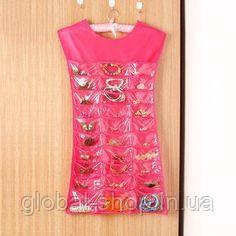 Органайзер для бижутерии, платье органайзер для украшений, вешалка для бижутерии