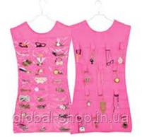Органайзер для бижутерии, платье органайзер для украшений, вешалка для бижутерии, фото 3