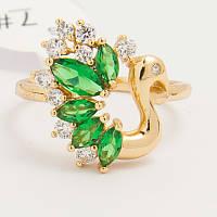 Кольцо Xuping №166 с цирконами двух цветов.