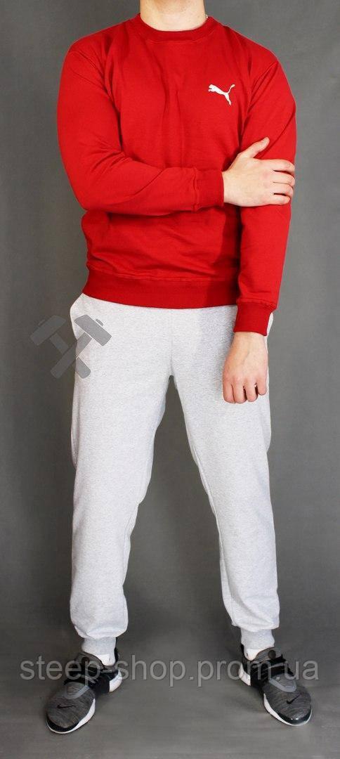 Спортивный костюм мужской (с красной кофтой и серыми штанами) Puma -  Steep-Shop fbc6b96b5c2