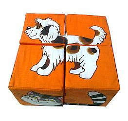 """Кубики мягкие """"Домашние животные"""" 4 шт."""
