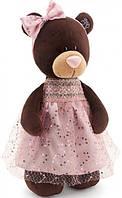 Мягкая игрушка Orange Мишка Milk в платье с блестками 30 см (M5048/30)