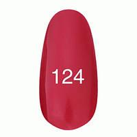 Гель-лак  Kodi 8 мл № 124 красный с перламутром