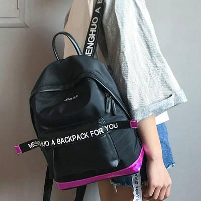 Рюкзак MENGHUO с надписями (черный)