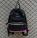 Рюкзак MENGHUO с надписями (черный), фото 2