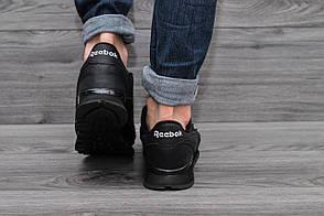Кроссовки мужские Reebok чёрные  топ реплика, фото 2
