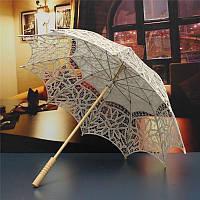 Зонт кружевной, беж (айвори)