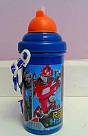 Бутылочка для воды с трубочкой Robot №705806 19899Ф+ 1 вересня Англия