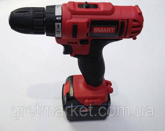 Шуруповерт аккумуляторный SMART SCD-0018 Li