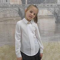 """Блузка для девочки  """"Двойной воротник"""" длинный  рукав"""