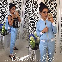 Костюм ( штаны и ветровка) Ткань - креп- костюмка Барби Размеры С М
