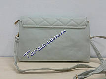 Стильный женский стеганый клатч 26х16см кожзам сумочка женская, фото 3