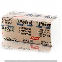 Бумажные полотенца листовые, белые, V-укладка, 2 слоя, EcoPoint, Standart VS-160