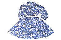 Платье Детское  « Голубое в цветы »