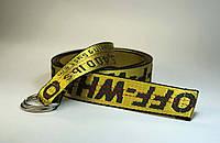 Ремень в виде стропы, желтый