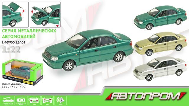 Машинка металлическая коллекционная Daewoo Lanos Автопром