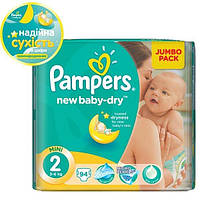 Подгузники PAMPERS New Baby-Dry Mini (3-6 кг) 94 шт. (4015400264613)