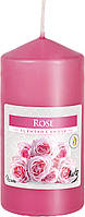 Ароматическая свеча цилиндр Роза 12см