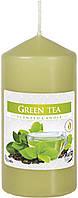 Ароматическая свеча цилиндр Зеленый чай 12см