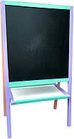 Детский Мольберт 110х61х66  для магнитов, маркеров, мела. Доска для рисования. К37