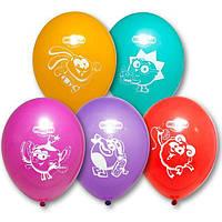 """Воздушные шары Смешарики 12"""" (30 см), 50 штук в упаковке"""
