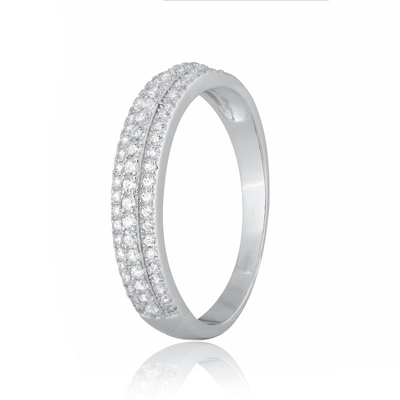 """Серебряное кольцо с фианитами """"212"""""""