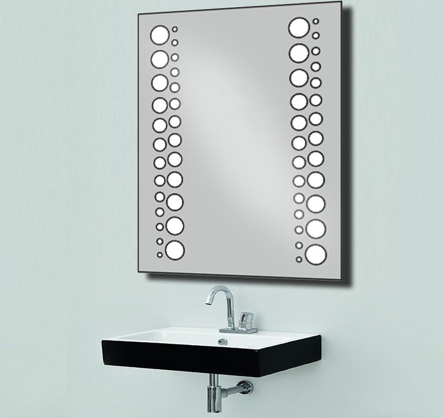 Дзеркало з LED підсвічуванням настінне d20 800х600 мм Лід