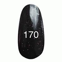 Гель-лак  Kodi 8 мл № 170 черный с пурпурными блестками