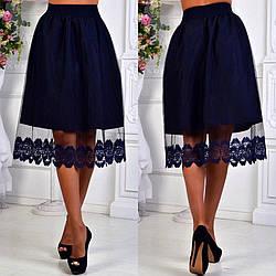 Стильная юбка миди 3548