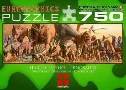 Пазлы 1000 элементов Динозавры Eurographics 6005-4650
