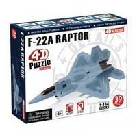 Объемный пазл 3d   Многоцелевой истребитель F-22A Raptor (Ящер), 4D Master 26201