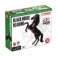 Объемный пазл 3d   Скачущая черная лошадь, 4D Master 26523