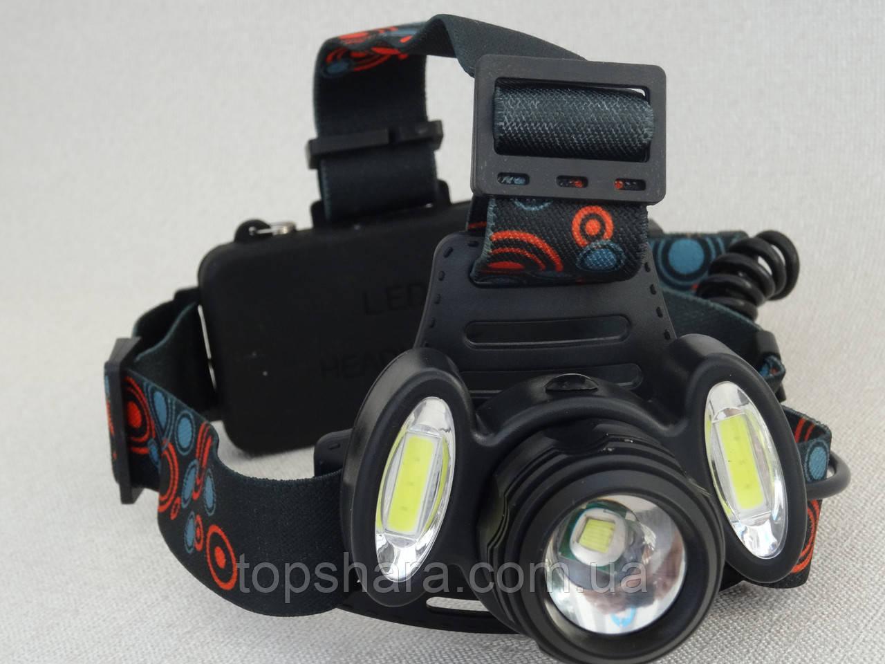 Фонарик налобный Police BL-C862-T6  158000W черный