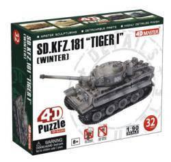 Объемный пазл 3d   Танк SD.KFZ.181'Tiger I'[Winter] , 4D Master 26323