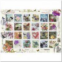 Пазлы Искусство 'Старинные почтовые марки, 1000 элементов '