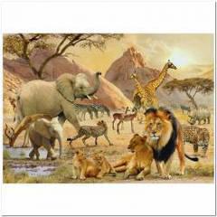 Пазлы Ravensburger  'Дикая африканская жизнь, 1000 элементов '