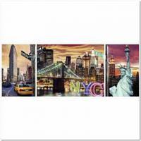 Пазлы Пейзажи 'Сияющий Нью-Йорк, 1000 элементов. Триптих '