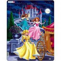 Пазлы для маленьких детей Larsen для девочек 'Три принцессы '