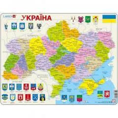Пазлы для маленьких детей Larsen Карта Украины - политическая