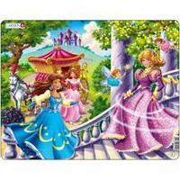 Пазлы для маленьких детей Larsen для девочек 'Четыре принцессы '