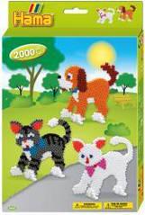 Набор 'Собачки и котики', термомозаика Hama 3433