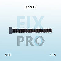 Болт c шестигранной головкой высокопрочный с полной резьбой DIN 933 M36 класс прочности 12.9 ГОСТ 7805-70