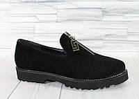 Туфли с молнией. Натуральная замша. 1207, фото 1