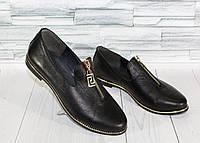 Туфли с молнией. Натуральная кожа. 1208