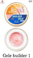 Гель-желе  F.O.X № 1 теплый розовый    (Gele Builder Gel  №1) 50мл