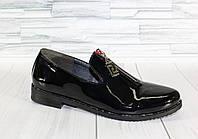 Туфли с молнией. Натуральная кожа. 1209