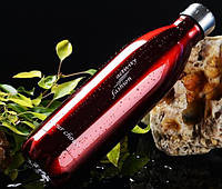 Термос спорт бутылка S'Well Sport глянцевая с надписями 500 мл красный