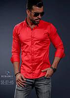 Яркая молодежная рубашка для мужчин