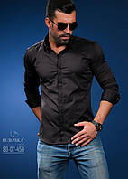 Черная стильная мужская рубашка